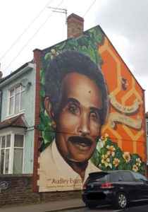"Also making a debut in St Pauls, Michele Curtis' mural of Audley Evans, just one of the murals in her "" 'Seven Saint of St Pauls' series."